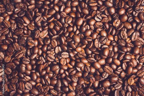Fototapeta premium Tło ziaren kawy. Tło fasoli kawy