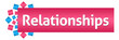 Leinwandbild Motiv Relationships Pink Blue Squares Horizontal