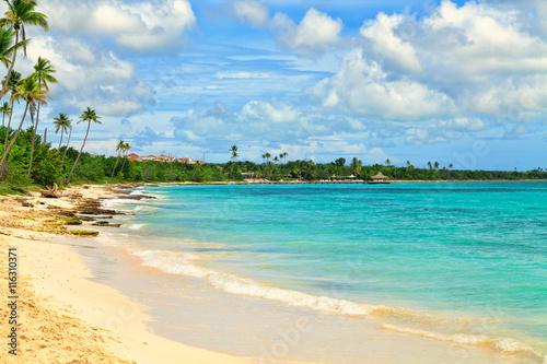 fototapeta na ścianę Tropical beach in Dominican Republic.