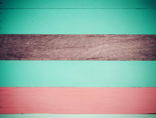 Sweet pastel color wood horizontal panel