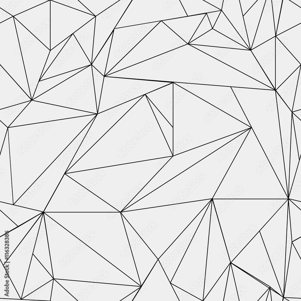 geometrische einfache schwarz wei minimalistische muster dreiecke oder buntglasfenster foto. Black Bedroom Furniture Sets. Home Design Ideas