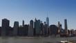 Lower Manhattan skyline along the East river.