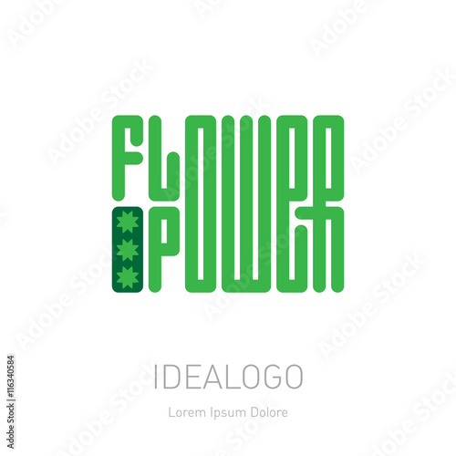 Flower Power Elegance Logo Template For Organic Shop Or Boutiq Buy This Stock Vector And Explore Similar Vectors At Adobe Stock Adobe Stock