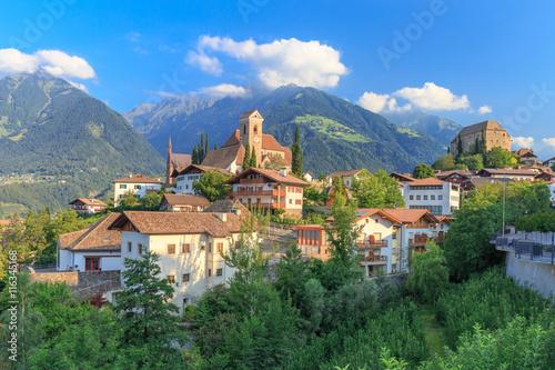 Fotografie, Obraz  Südtiroler Bergdorf Schenna bei Meran