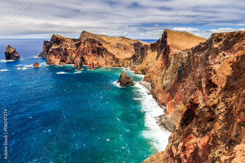 Cadres-photo bureau Cote Beautiful landscape at the north coast of Ponta de Sao Lourenco, the eastern most part of Madeira Island, Portugal