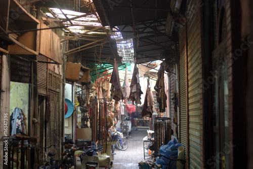 Fotografering  alleys in the markets
