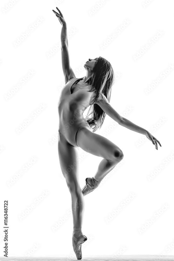 Fotografia  Balerina pozowanie w studio