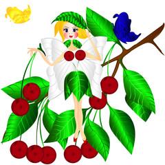 Plakat fantasy fairy cherry