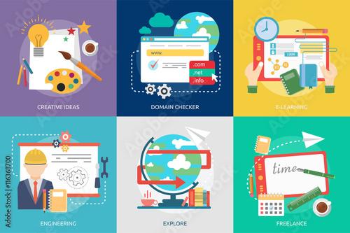 Fototapety, obrazy: Creative Process Conceptual Design