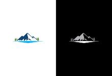 Mountain Lake Nature Logo