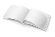 Blank Open Magazine Template. Wide Format