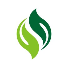 Green Leaf Yin Yang Circle