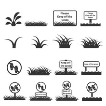 Grass Icon , Keep Off The Grass