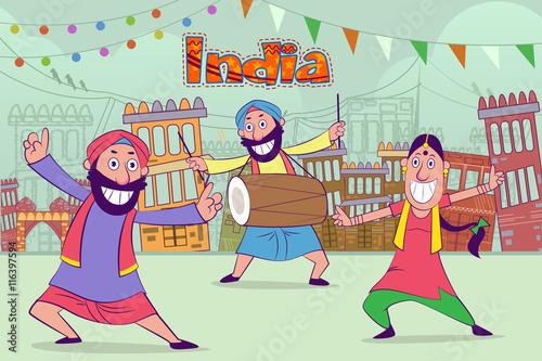 Canvas-taulu Happy punjabi india