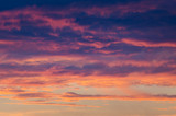 Fototapeta Na sufit - zachmurzone niebo podczas zachodu słońca
