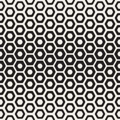 FototapetaVector Seamless White And Black Hexagon Halftone HoneyComb Pattern