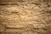 Texture Of Soil Wall Of Home S...