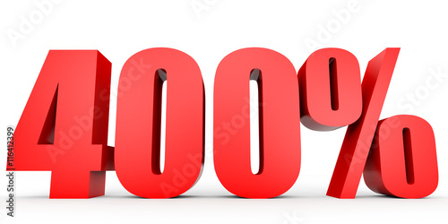 Fotografia  Discount 400 percent off. 3D illustration.