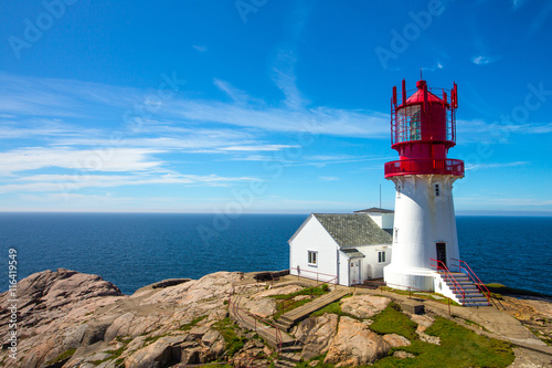 Photo Stands Lighthouse Lindesnes lighthouse