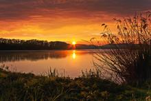 Spring Sunrise On The Pond