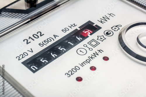 Fotografie, Obraz  Electric meter. Metering of electricity.