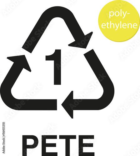 Photo  1 PETE polyethylene recycling code