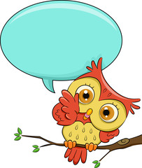 Owl Speech Bubble