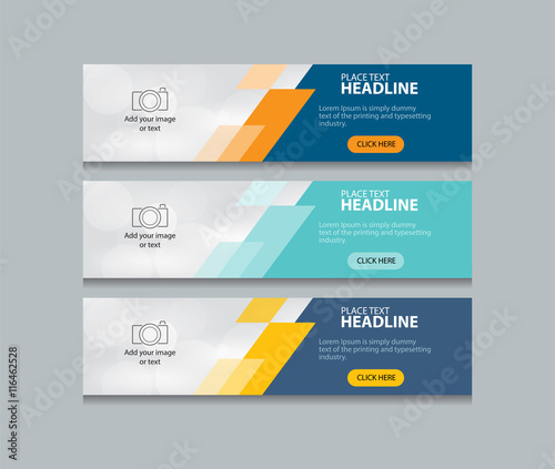 Obraz na plátně abstract web banner design template