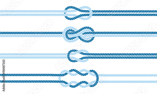 Obrazy niebieskie  sailor-knot-dividers-set