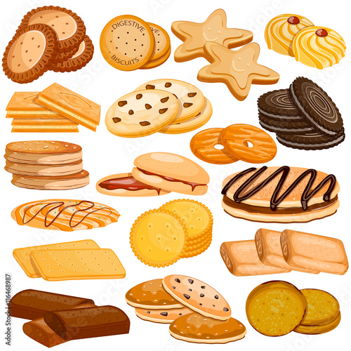 Assorted Biscuit and Cookies Food Collection Fototapeta