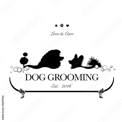 Fotografía  Logo for dog hair salon, dog styling and grooming shop, store for pets