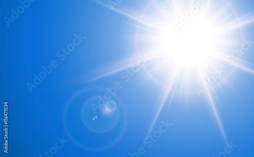 Fotomagnes Słońce z flary obiektywu