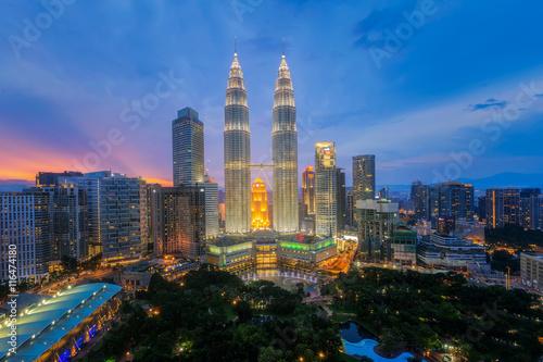 Photo Stands Kuala Lumpur Top view of Park and Kuala Lumper city