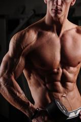 Panel Szklany Fitness / Siłownia siłownia, fitness, Athletic, men's, portret, body, ciało, sylwetka, gym, workout, model