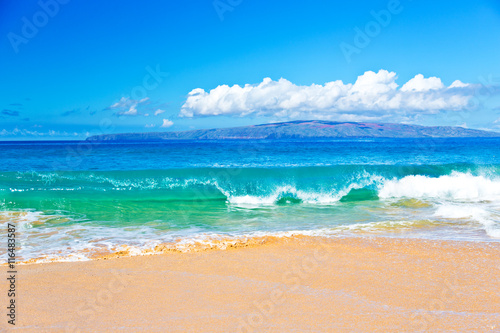 Ocean Surf in Maui Hawaii