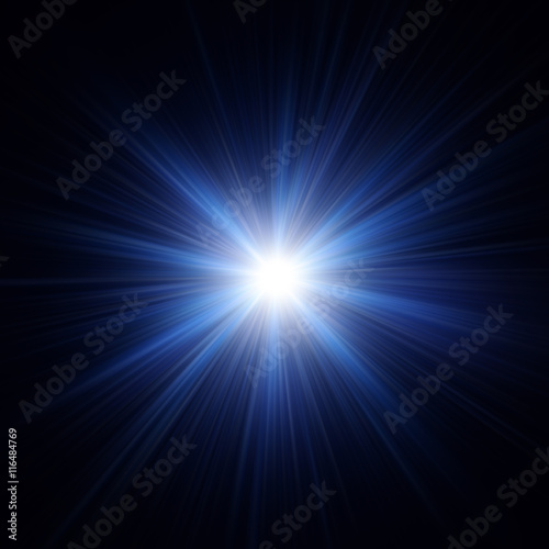 Obraz Rays of colorful light illustration. Abstract Background. Glow light effect - fototapety do salonu