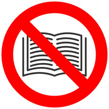 Forbidden Sign With Book Icon ...