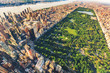 Aerial view of Manhattan looking north up Central Park