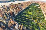 Fototapeta Nowy Jork - Aerial view of Manhattan looking north up Central Park