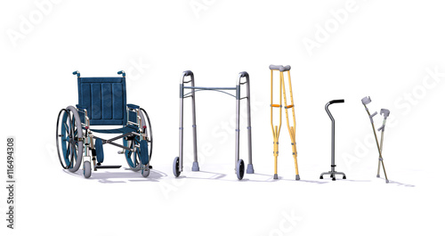 Mobility Aids Wallpaper Mural