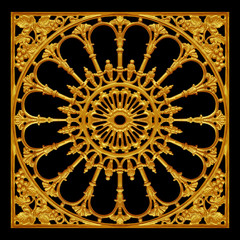 FototapetaOrnament elements, vintage gold floral designs