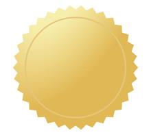Golden Medal Or Coin