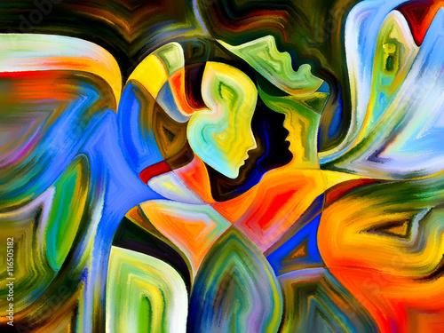 Obraz Koncepcyjne Święte Barwy - fototapety do salonu