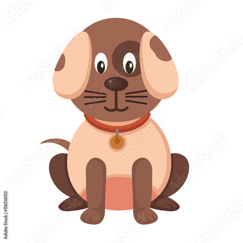 Papiers peints Chambre bébé illustration of isolated dog on white background