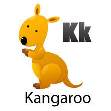 Alphabet Letter K-Kangaroo
