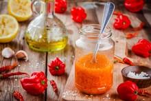 Homemade Hot Chili And Habaner...