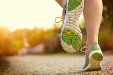 Fototapeta Frau beim Laufen
