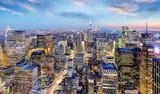 Fototapeta Nowy York - New York city at night, Manhattan, USA