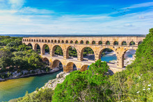 Three-tiered Aqueduct Pont Du ...