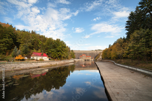Foto op Canvas Kanaal Pilchowice Dam and Canal in Poland